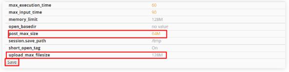 edit upload file max size