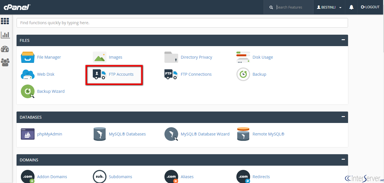 FPT account cPanel