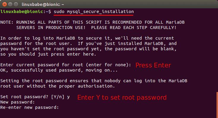 install mariadb ubuntu