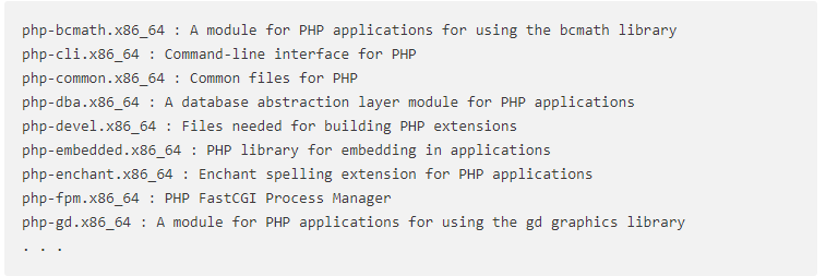 php module search