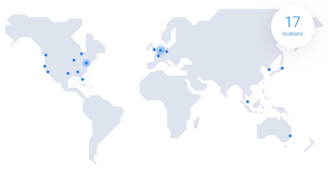 Vultr 17 locations worldwide