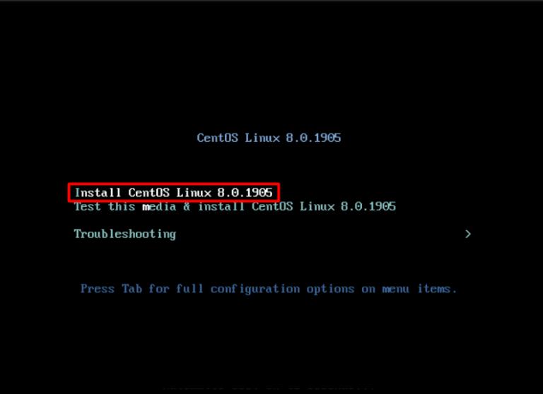 centOS linux 8